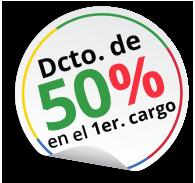 Dcto. de 50% en el 1er. cargo